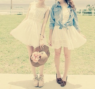 flows fitted chiffon peter pan collar korean ruffle waist short sleeve casual back to school spring plain