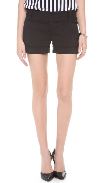 alice   olivia Cady Cuff Shorts | SHOPBOP