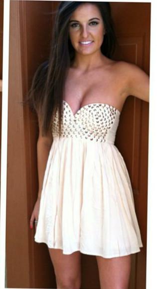 white dress stuts homecoming dress prom dress