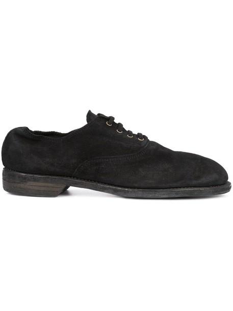 Guidi women shoes lace-up shoes lace leather black
