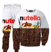 sweater,nutella,sweatshirt,sweatpants,nutella t-shirt,cozy,pj pants,pjamas,unisex,sweats,co ord,co ords,nutella lover,chocolate,funny sweater,funny,funny shirts,food