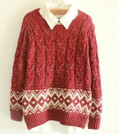red sweater,christmas sweater,winter sweater,old man sweater,vintage,vintage sweater