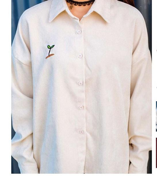 blouse girly corduroy button up button down shirt