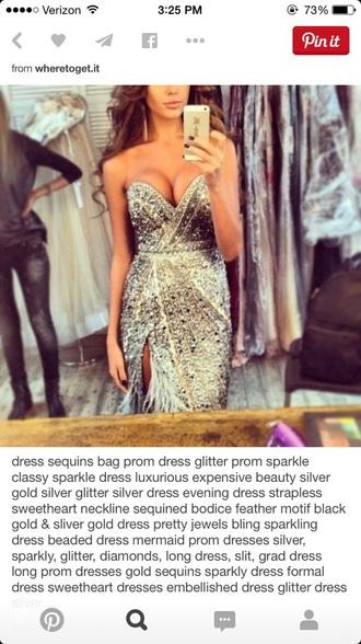 dress prom dress sparkly dress unique