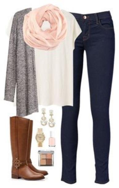 cardigan scarf shirt