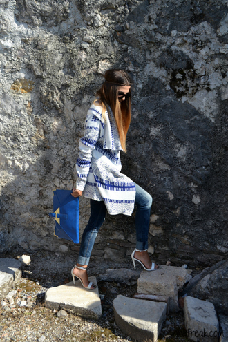 cardigan open front cardigan denim sandals clutch zaful