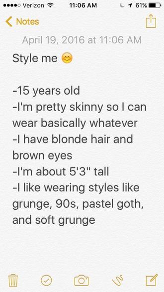 shirt style me grunge pastel goth soft grunge style skinny blonde hair 90s style goth