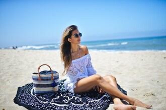 cuppajyo blogger top shorts bag hat beach bag tote bag beach