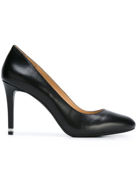 women classic pumps leather black shoes