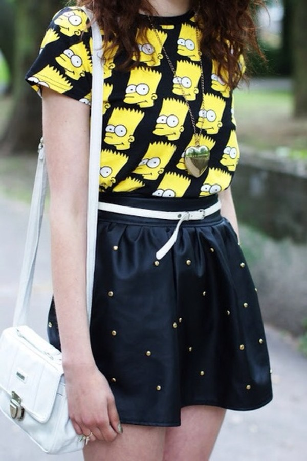t-shirt bart simpson skirt