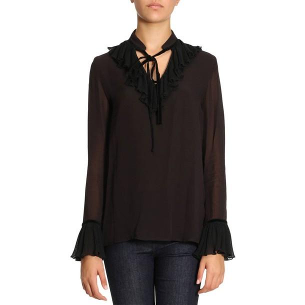 just cavalli shirt women black top