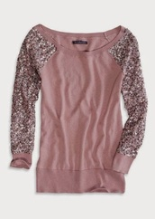 sweater,sequins,american eagle