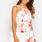 Mya white floral strappy bodycon dress