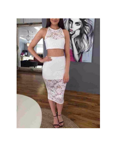 Lace set crop top and skirt @itslydboss