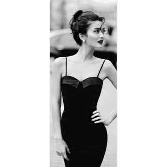 black dress audrey hepburn