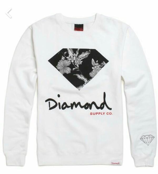 sweater diamond supply co. black sweater grey sweater white sweater