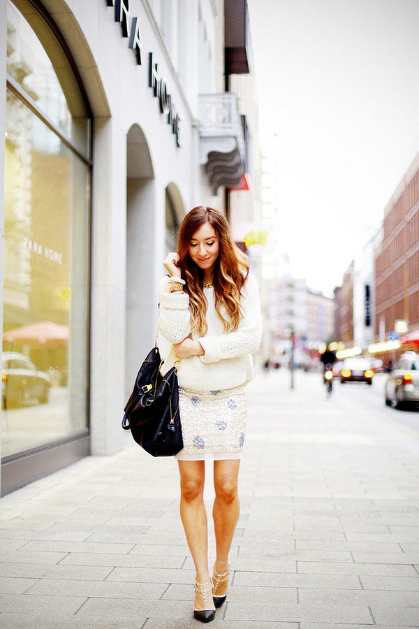 flirting with fashion sweater skirt shoes bag