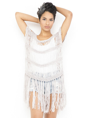 top tunic tunic top fringes fringed top grey grey tunic