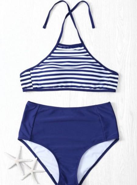 swimwear blue bikini summer beach fashion green trendsgal.com