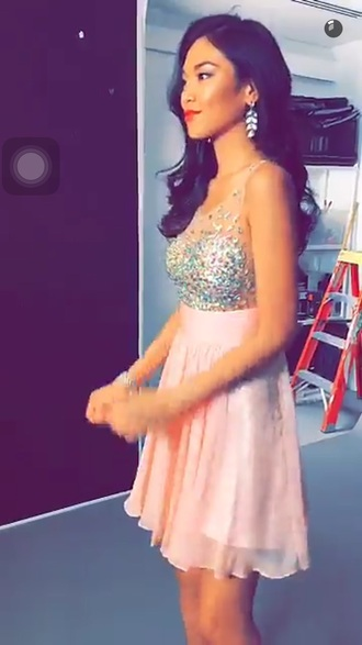 dress pink dress pink sparkly dress