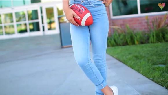 jeans light wash high waisted