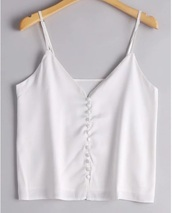 blouse,girly,white,white top,crop tops,crop,cropped,button up,silk,satin