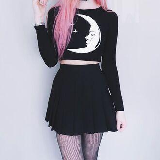 top moon black goth dark grunge