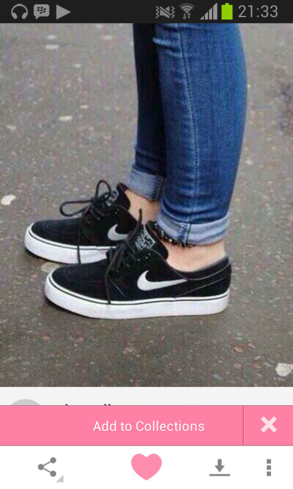shoes nike trainers black