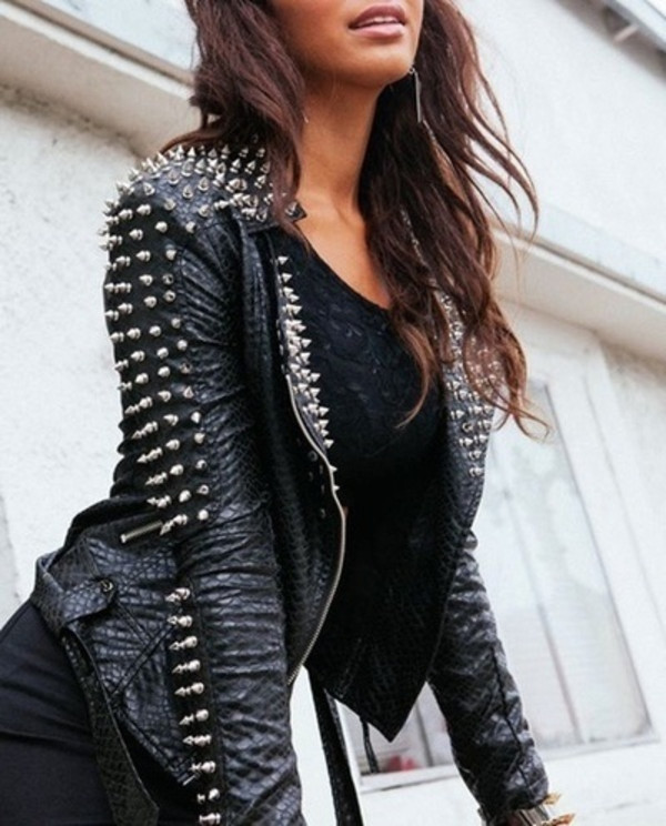 jacket coat leather top black leather jacket