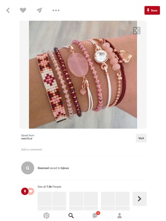 jewels pink bracelets