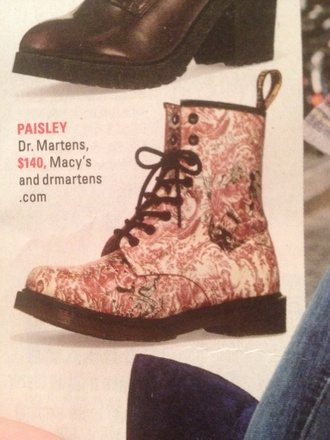 shoes drmartens paisley boots