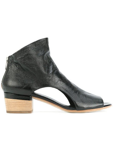 OFFICINE CREATIVE open women ankle boots leather black shoes