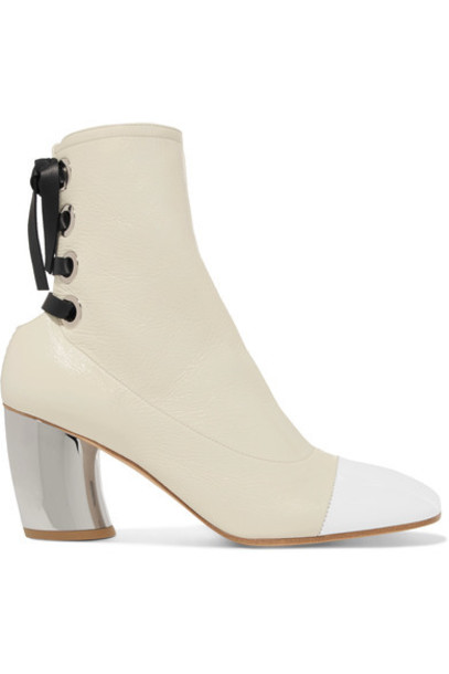 leather ankle boots ankle boots lace leather white shoes