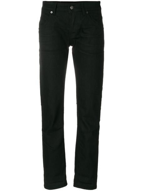DONDUP jeans straight jeans women cotton black