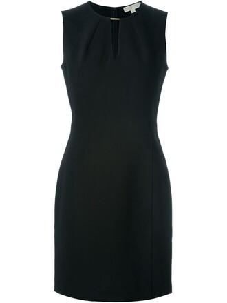 dress sleeveless women spandex black