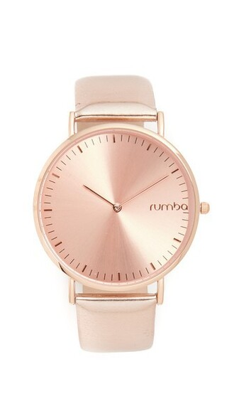 metallic rose gold rose watch gold jewels