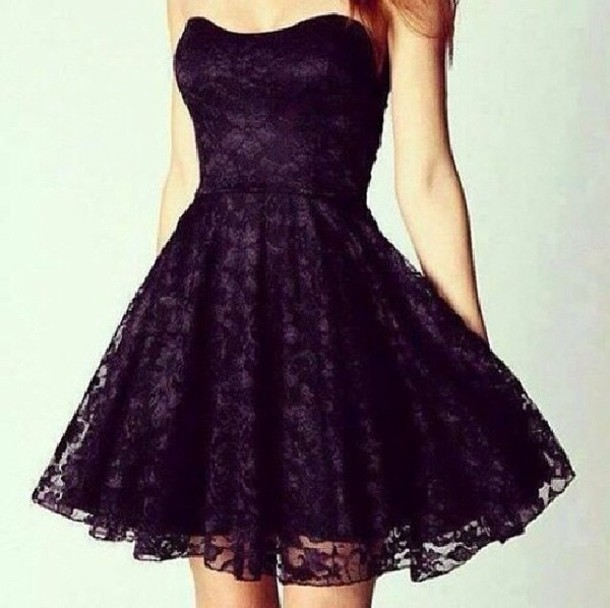 Short Purple And Black Prom Dresses - Plus Size Prom Dresses