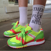 shoes,bright,adidas,sneakers,socks,neon
