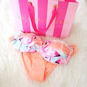 swimwear,brass,tank top,flamingo,bikini,sexy,summer,peach,lace,beach babe,ocean,lovely,babe,black bikini
