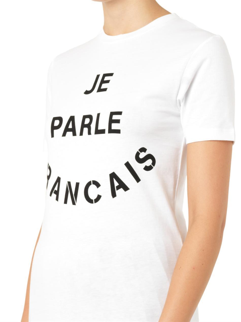 Je Parle Francais-print T-shirt | Être Cécile | MATCHESFASHION...
