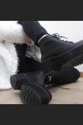 shoes,platform shoes,black platform boot,black,boots,timberland,black timberlands,ankle boots,vintage boots,high heel,black high heels,thick wedge,shoes black wedges,leather we,cool,heels