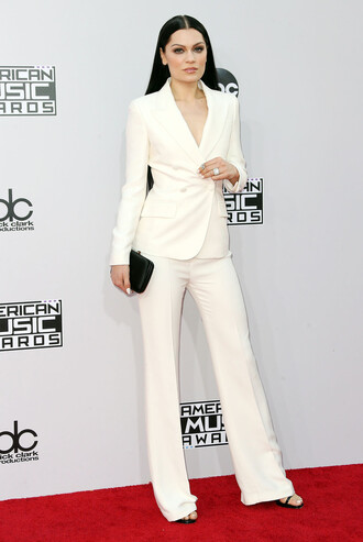white jessie j suit