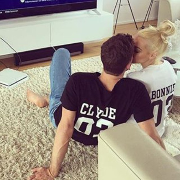 f3aa05e4d4 t-shirt, bonnie and clyde, bonnie and clyde, matching couples ...