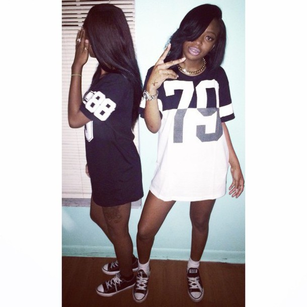 jersey jersey dress converse black girls killin it shirt