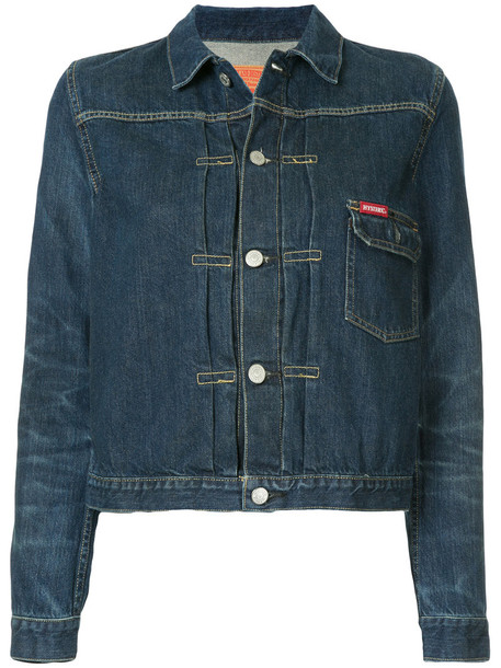 Hysteric Glamour jacket denim jacket denim women classic cotton blue