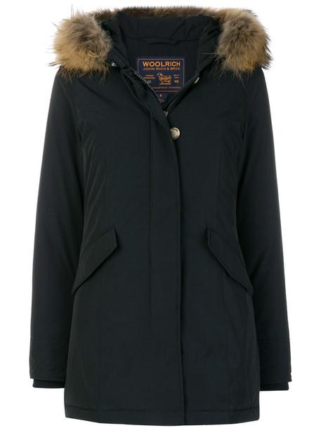 Woolrich parka women blue coat