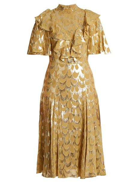 Temperley London dress silk gold