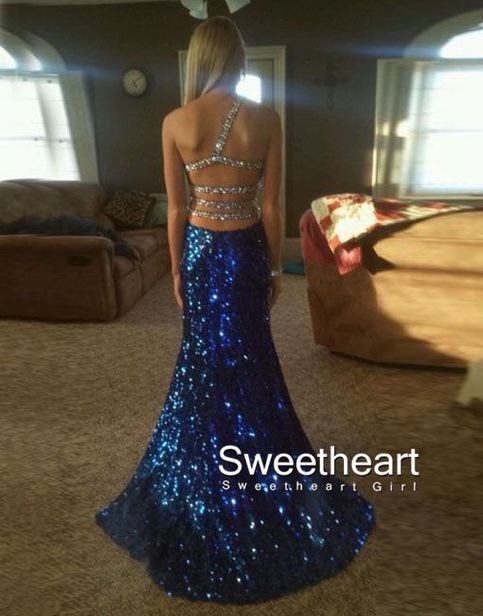 Sweetheart sequin backless long prom dress, evening dresses