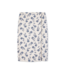 Tory Burch Sateen Jacquard Wrap Skirt
