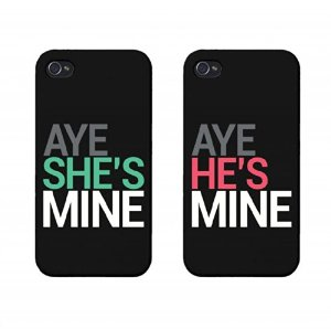 Amazon.com: Aye She's Mine, Aye He's Mine Couples Matching Cell Phone Cases for iphone 4, iphone 5, iphone 5C, Galaxy S3, Galaxy S4, Galaxy S5 in Black: Cell Phones & Accessories